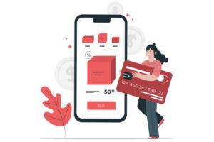 クレジットカードと女性