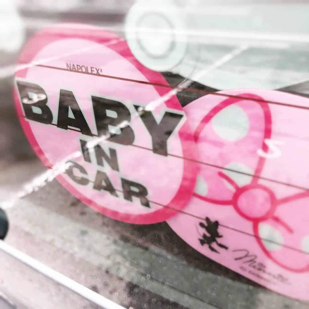 baby in car ディズニー